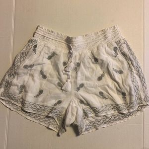 J. Crew White Pineapple Shorts